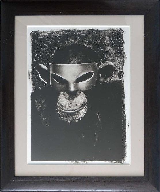 Monkey with Mask, New York City, 1992