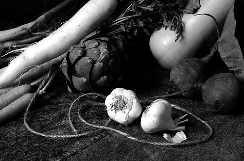 Bodegón de verduras II. Black & White. From the bodegon series, 2015