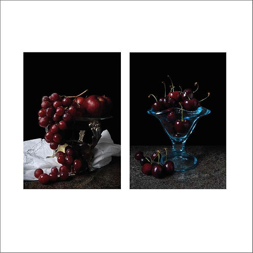 Grapes and Cerezas. Diptych, 2015