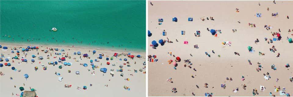Beach II, and Nude Beach Aerial Photograph Set, 2015