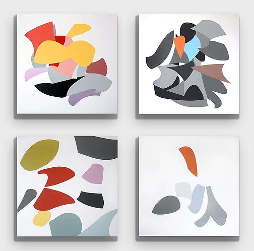 Untitled II, VI, IV and V (Quadriptych), 2019