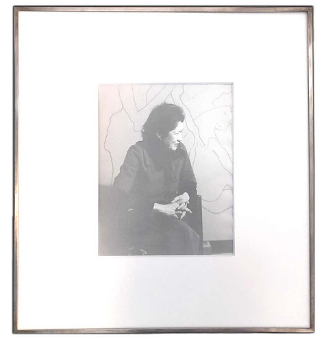 Untitled Portrait of Female by Man Ray (Framed)