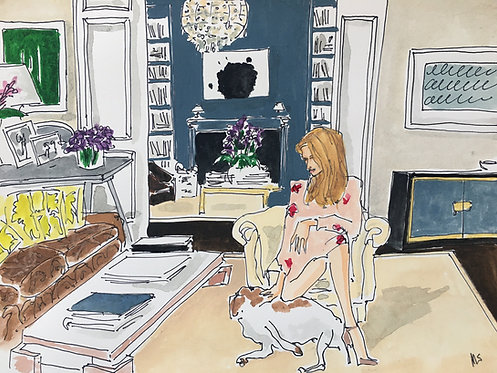 Aerin Lauder at home, 2021 Manuel Santelices