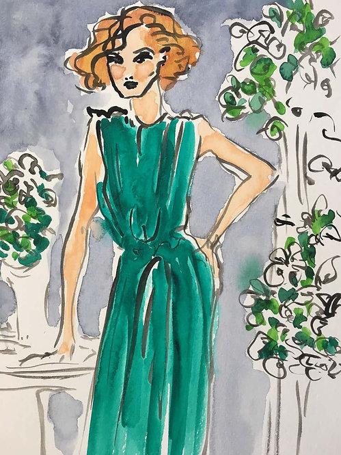 Green Dress, 2018