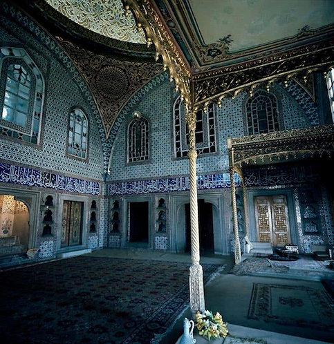Istanbul - The Throne Room, Topkapı Palace, 1954