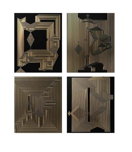 Untitled 17, Untitled 15, Untitled 19 & Untitled 16 Quadriptych, 2019