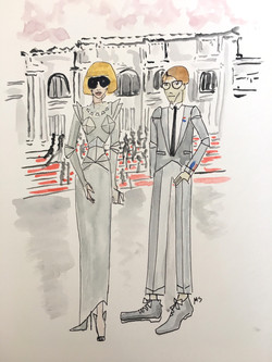 Anna Wintour and Andrew Bolton