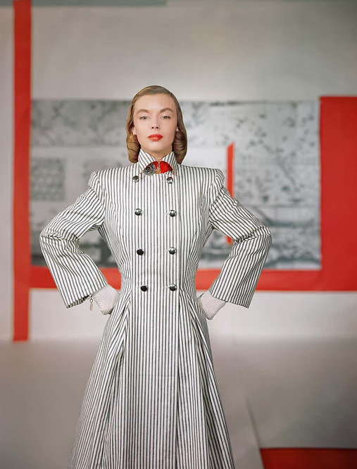 Fashion in Colour - Coat by Connie Adams, 1946 (Small size)