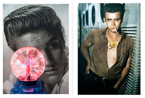 Diptych: Elvis Presley and James Dean, 2018