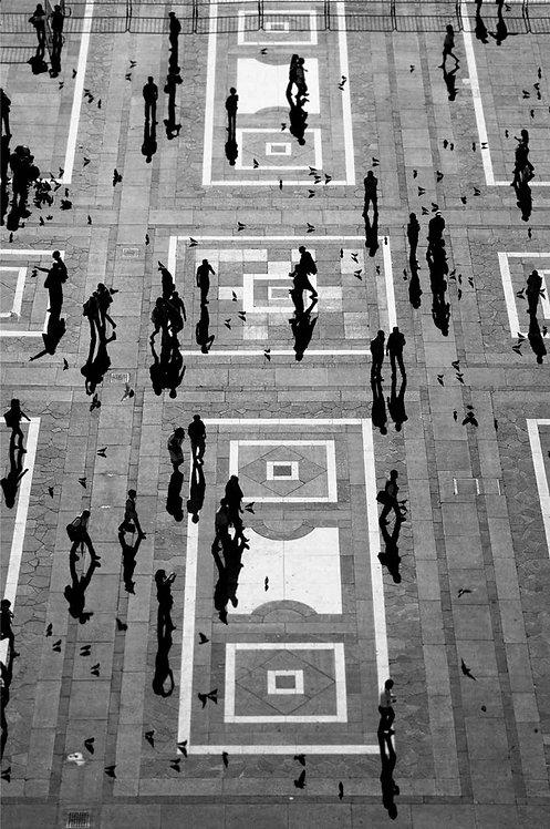 People, Milan, 2011 (B&W)