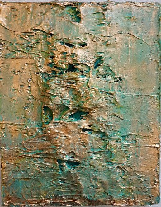 Tactile memory #68 One of a kind, Mixed media on canvas. 2020_Natasha Zupan