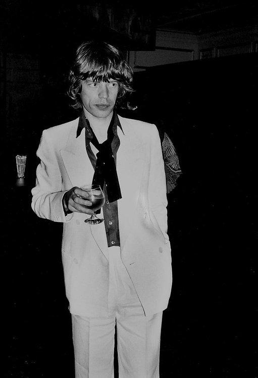 Mick Jagger at Bianca Jagger's 30th Birthday Party, Studio 54, 1977_ Rose Hartman