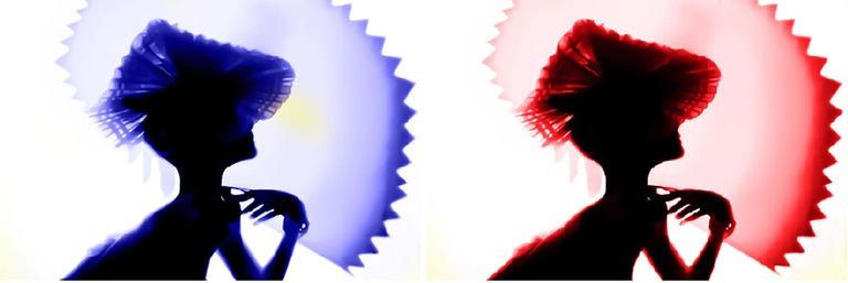 Back Lighting, Blue Red, Diptych