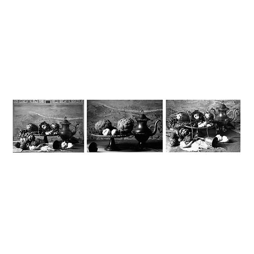Alcachofas con Jarra I, II &; III. Triptych. (B&W) 2015