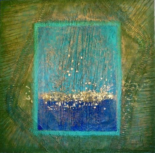 Quantum Color #40 One of a kind, Mixed media on canvas 2019_Natasha Zupan
