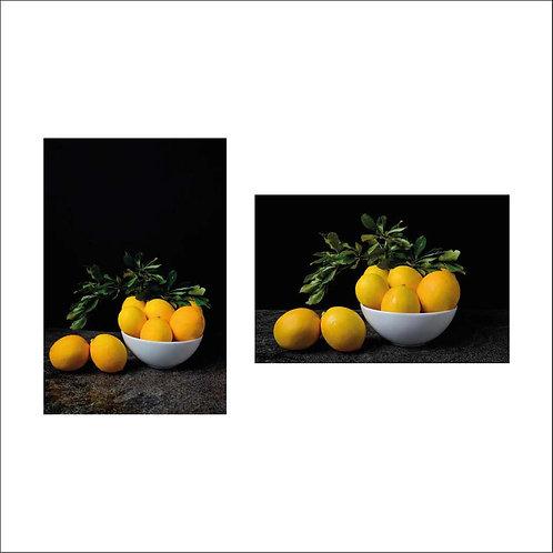 Lemons I & II. Diptych. 2015