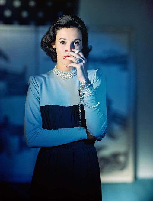 Barbara 'Babe' Cushing Mortimer Paley, Dress by Traina-Norell, 1946