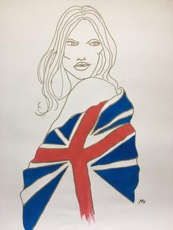 Union Jack Kate Moss