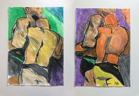Lucha and Pride - (Diptych), 2018
