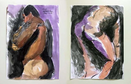 Duchándome, June 4th and Pity (Diptych), 2018