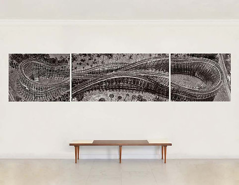 Roller Coaster (Aerial - Triptych), 2015
