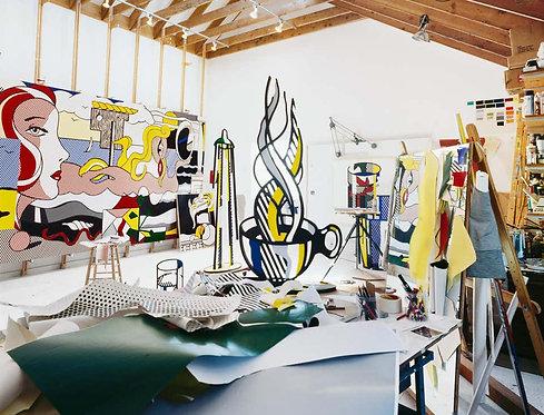 Roy Lichtenstein, New York, (Lichtenstein Studio, Southampton) Untitled #4, 1977