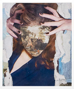 She combines images from old masters, alchemical prints, contemporary artists, and bits from magazin