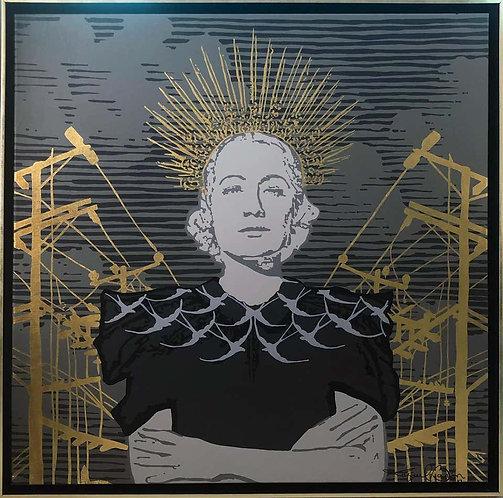 Templanza_Acrylic on Canvas with Gold Foil_2019_Rafael Barón