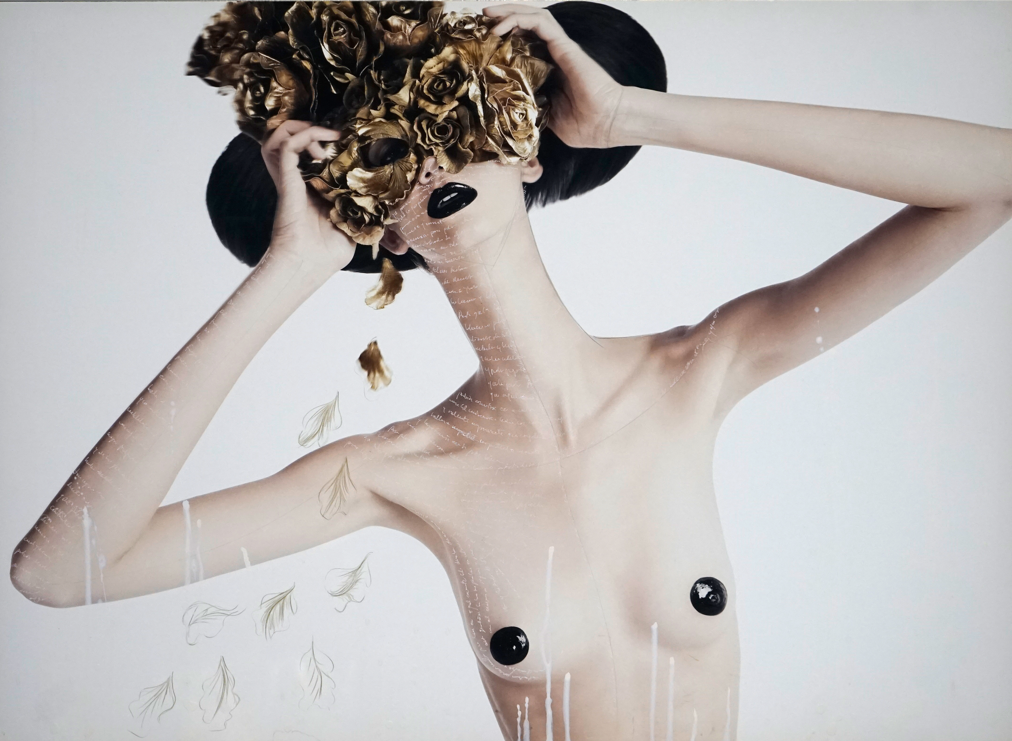 Teresa with Mask of Roses, 2009