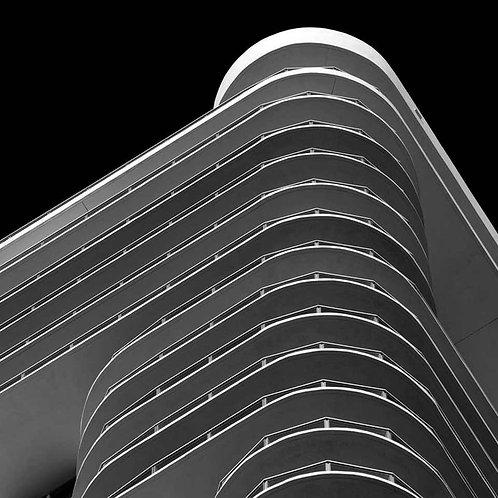 Miami Stripes 1_Black and White Architectural Photograph_2009_Luca Artioli