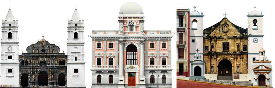 Catedral Basílica, Palacio Municipal, and Iglesia Nuestra Señora, Set 2002