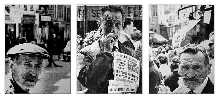 Rue Mouffetard - Triptych, 1964