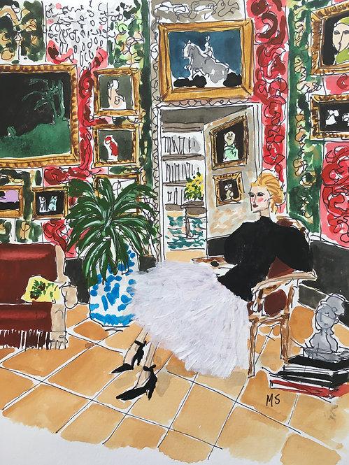 A Salon in Madrid, 2021 Manuel Santelices