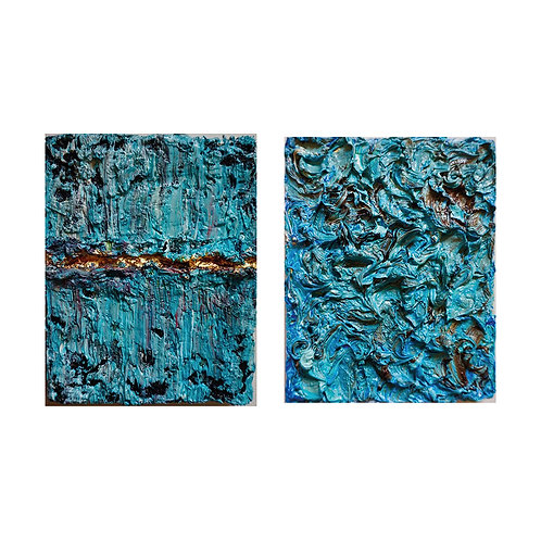 Tactile Memory #18 and Tactile Memory #27 Diptych, 2019