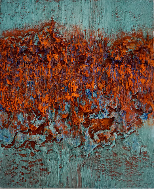 Tactile memory #41 One of a kind, Oil on wood. 2020