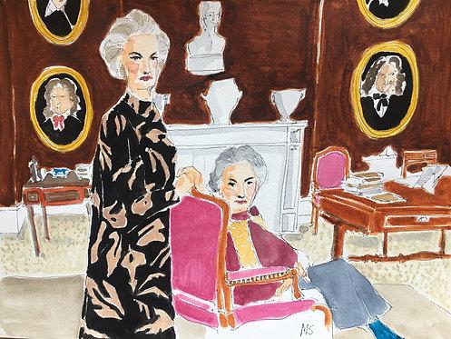 Lady Pamela Hicks and Lady Patricia Mountbatten