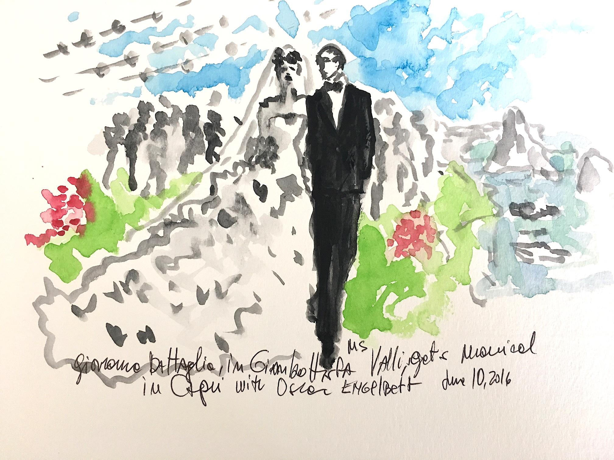 The wedding of Giovanna Battaglia,