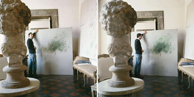Cy Twombly in Rome 1966 - Untitled #30 and Untitled #24, Diptych