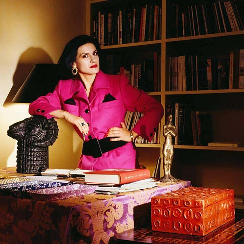 Paloma Picasso - Paloma in Pink, New York, 1985