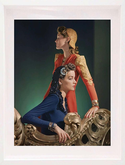 Ensembles by Nettie Rosenstein, Jewelry by Tiffany and Co (Framed), 1940