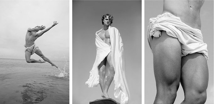 Man on Water, Man Risen, and Bodice of a Man, Set from the series Blanco (B&W) Ricky Cohete