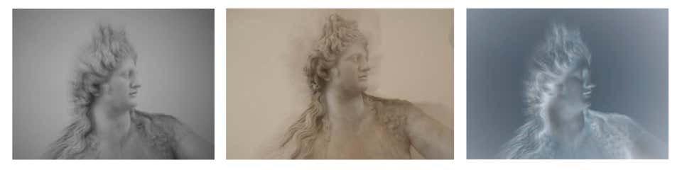 Roman Statue Study 6 Triptych, 2014