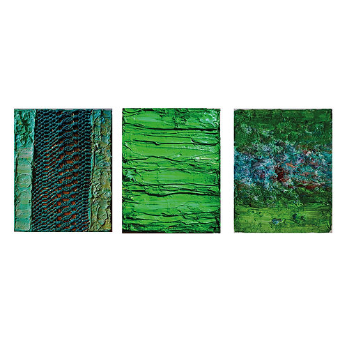 Tactile Memory #17, #23, and #7 Triptych, 2019