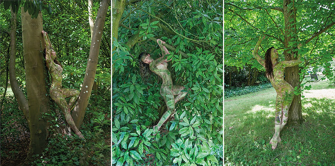 Women and Trees VI, V and IV, Triptych, 2020
