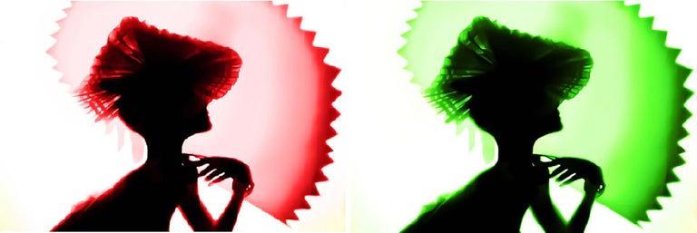 Back Lighting, Red Green, Diptych