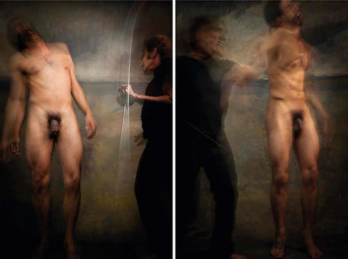 Untitled VII and XI, Diptych, Half Angels Half Demons, 2010