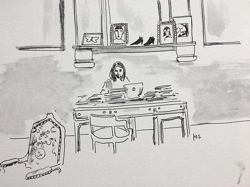 Alessandro Michele in His Studio, 2018