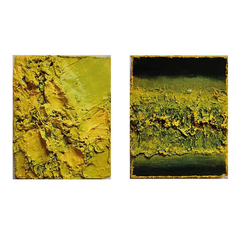 Tactile Memory #25 and Tactile Memory #13 Diptych, 2019