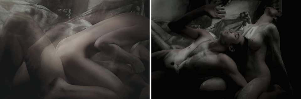 Half Angels Half Demons #38 and #39 (Diptych), 2010