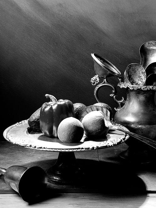 Bodegón con pimentón II. Black & White. From the bodegones series, 2015
